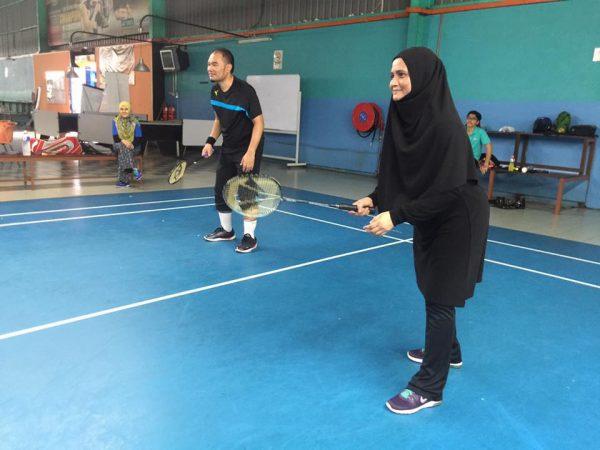 Pasangan Mix Double Team Hitam Abg Zaimi & GAM Zarina (Confirm kalah)
