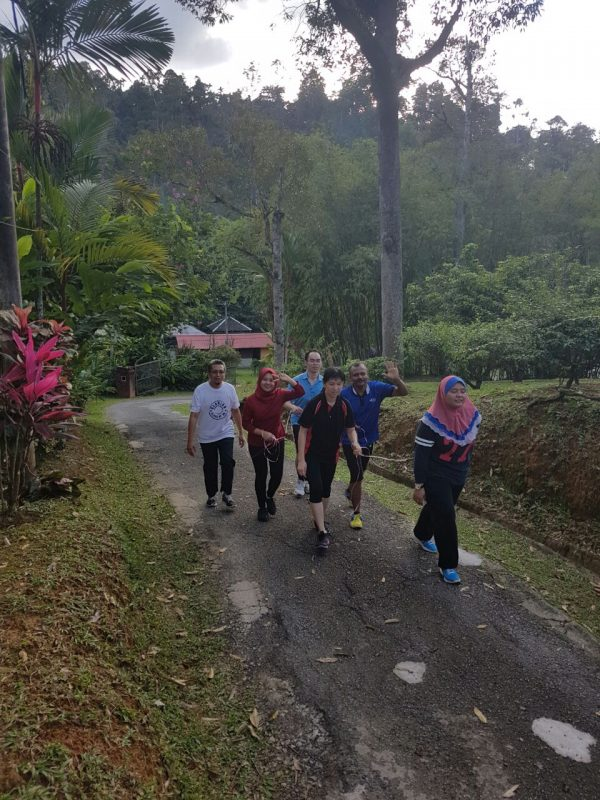 Jogging berkumpulan hari kedua